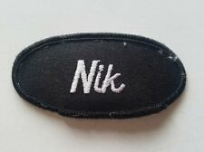 "Rare ""NIK"" Embroidered Sew on Name Patch/ Work Uniform Name Tag FREE SHIPPING"