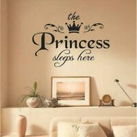 Removable The Princess Sleep Here Vinyl Wall Sticker Decal Sticker For Kid T2U1