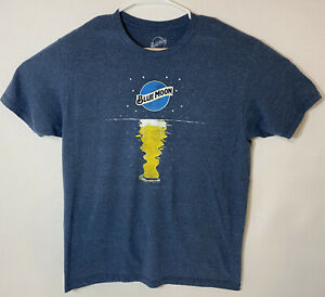 New Blue Moon Beer Neon Graphic-Print Mens T-Shirt