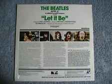 """1980 BEATLES ORIGINAL """"SEALED"""" LET IT BE LASER DISC ROOFTOP CONCERT $1595"""