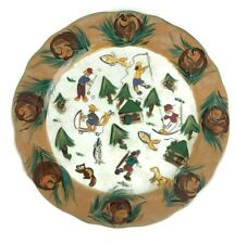 New ListingLesal Ceramics Studio Pottery California Skiing Winter Sports Plate Hand Painted