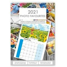 2021 A4 Photo Calendar DIY Personalise with 6'x4' or 7'x5' Photos - Choose Qty