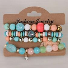 Jewelry Beads Women Crystal Charm Bracelets Multilayer Bangles Candy Color