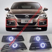 2X LED DRL Daytime Fog Lights Projector angel eye kit for VW Passat CC 2009-2012