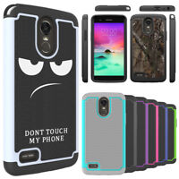 For LG Stylo 3, Stylo 3 Plus Case Hard Silicone Hybrid Shockproof Phone Cover