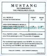 Mustang Tire Press Glove Box Decal 1966 - Osborn Reproductions