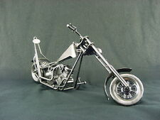 Super Stretched Metal Art Chopper Antiqued Brushed Stainless Finish Motorcycle