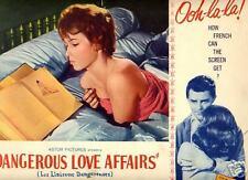 Lobby Card 1962 DANGEROUS LOVE AFFAIRS J Moreau CU
