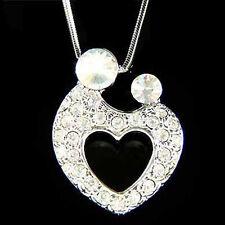 w Swarovski Crystal MOM ~Mother Love Baby~~ Child Kids Heart Motherhood Necklace