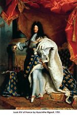 Louis XIV of France 1701 painting by Hyacinthe Rigault poster print