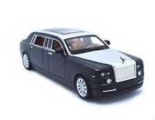 1:32 Rolls-Royce Phantom Metal Sound Light Pullback Model Car Black New