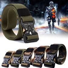 Men Tactical Military Rigger's Belt Adjustable Buckle Combat Nylon Waistband