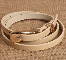 Ladies Slim Fashion Waist Belt Dress Access Thin Skinny PU Leather Belt Women AU
