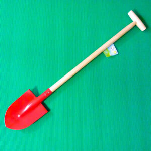 Children's Long handled Gardening Spade (73cm) Red Metal and wood - Kids Garden