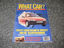 WHAT CAR ?   MAGAZINE   DECEMBER      1991    ENGLISH MONTHLY