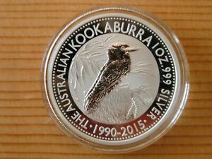 1 oz Silbermünze Kookaburra 2015