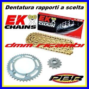 Kit trasmissione APRILIA RS 125 2006 catena oro corona pignone PBR EK RS125 06