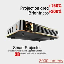 Portable 8000 Lumens DLP HD 1080P 3D Home Theater Projector Wifi HDMI RJ45 DLNA