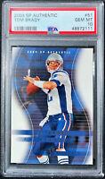 2004 SP Authentic Tom Brady #51 The GOAT Super Bowl MVP PSA 10