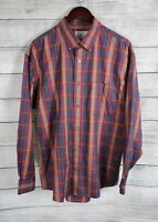 CABELA'S Mens Red Plaid Button Long Sleeve Shirt LARGE Regular