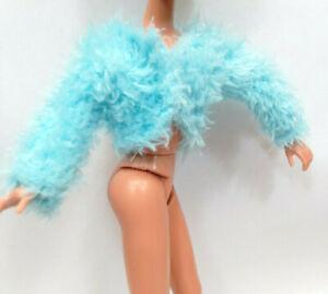 "Doll Clothes fit 9"" Skipper dolls Blue Faux Fur Sweater Top #1123"