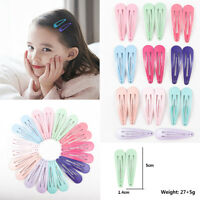 20pcs 5CM Girls Baby Kids Hair Clips Snap Slides Close Hairpin Kit Wholesale