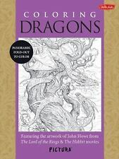Coloring Dragons: Featuring the artwork of John Howe from The Lord of the Rings
