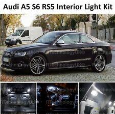 PREMIUM AUDI B8 A5 S5 RS5 Interior LED Bulbs Kit XENON WHITE INTERIOR LIGHTS