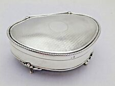 Vintage Sterling Solid Silver Jewellery Box 1922 273g (867-9-VVS)