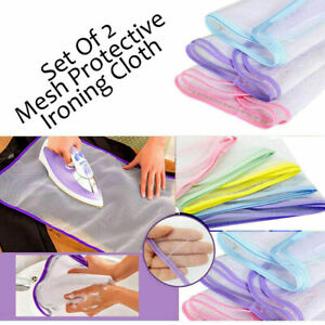 2 x Protective Net Mesh Ironing Cloth Protect Iron Delicate Garment Clothes
