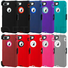 Shockproof Hard Case Cover iPhone 7 8, 7/8 Plus (Clip Fits Otterbox Defender)