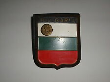 Old Bulgaria International Car Truck Brass Tin Country Code Plate Flag 1960's