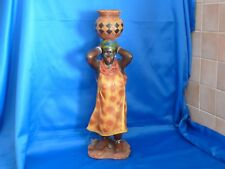 """Statuette africaine """"femme allant chercher de l'eau"""""""