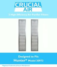 2 Replacements Hunter 30890 & 30895 HEPA Style Air Purifier Filters Part # 30973