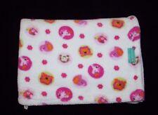Tiddliwinks White Pink Animals Dots Flower Soft Baby Girl Blanket Monkey Giraffe