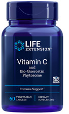 Life Extension Vitamin C and Bio-Quercetin Phytosome 60 Vegetarian Tablets