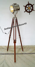 Collectible Studio Spotlight Brown Tripod Stand Searchlight With Floor Lamp Gift