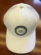 New Callaway Golf White With Gray Patch Adjustable Trucker Hat