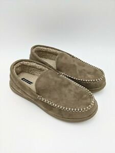 Dockers Men's Craig Ultra-Light Mid Moccasin Premium Slippers, Taupe, Size 11