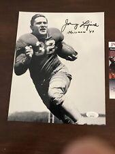 Signed 8 X10 Johnny Lujack 1947 Heisman Notre Dame Chicago Bears  JSA COA