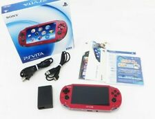 Sony PS Vita PCH-1000 OLED Wi-Fi Model Red w/ Charger + Box Japan [Excellent+]