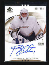 JONAS HILLER 2007/08 SP AUTHENTIC #191 ROOKIE AUTOGRAPH AUTO RC #935/999 AB6004