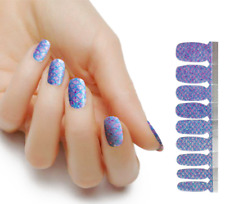 18-count 100% Real Nail Polish Strips Ombre Glitter Solid Accent- Deck The Nails