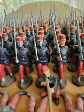 Unfinished 10.5cm 1914 French Infantry lead Toy Soldiers Dan Bohline
