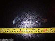 FIAT Punto Car Badge good used condition Italian Boot Emblem plastic Chrome