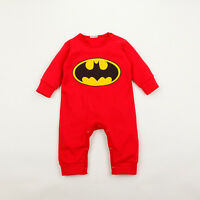 TOP BABY BATMAN BABYGROW ROMPER BABY BOYS GIRLS NEWBORN CLOTHES PLAYSUIT OUTFIT