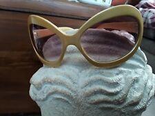 Vintage  Mid Century Retro Sunglasses Gold Frame #4116