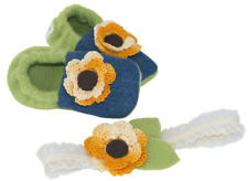Infant Booties & Hairband Set - Baby Sunflower
