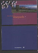 New Zealand 1997 Vineyards Souvenir Miniature Sheet Booklet Stamps mint