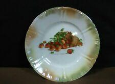 "Antique Franz Anton Mehlem Iridescent""Strawberry Basket""Embossed Plate,Germany"